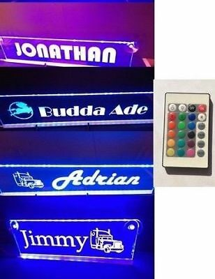 Custom LED 12V 500mm Your Name plate Sign Scania 24key remote