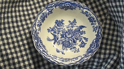 """Crown Ducal-""""Bristol""""6 3/4"""" Soup/Cereal Bowl- Blue Snd White Transfer Ware-Engli"""