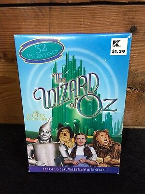 The Wizard of Oz Valentines Day Cards 32ct. (NEW OLD STOCK, 2000) FREE SHIPPING