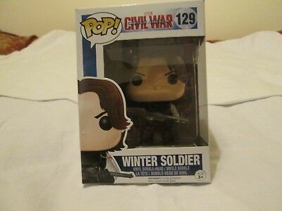 funko pop marvel captain america civil war, winter soldier 129
