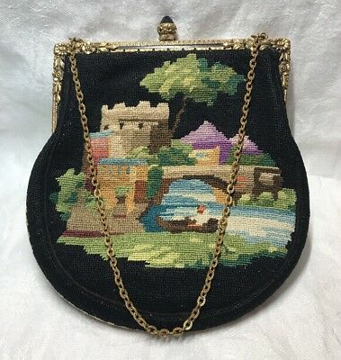 Fine Vintage Antique French Tapestry purse