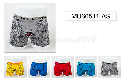 5pc Size 3 2-4 years Comfort Cotton Boys Boxer Briefs Spider Kids Underwear