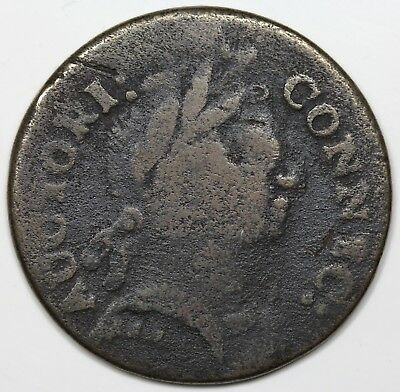 1785 Connecticut Copper, Bust Right, F detail