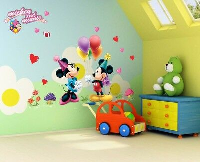 Children Room Wall Sticker Mickey Mouse Kids Rooms Decoration Baby Cartoon Decal