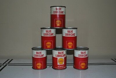 Shell Oil Company Valve Lubricant 4 oz Can Unopened Lot of 6