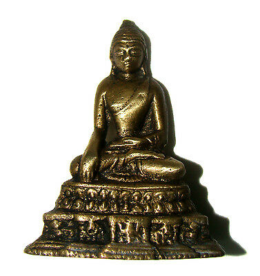 Vintage Brass made statue of Lord Buddha unique and rare idol from India