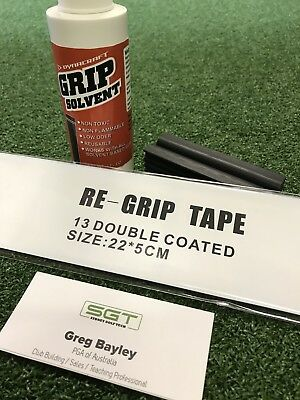 Golf Re Grip Kit Including Solution, Rubber Vice And Grip Tape 13 Pieces