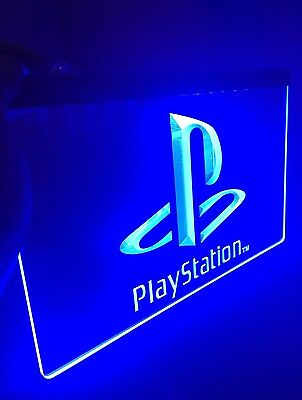 PLAYSTATION LED Light Sign for Game Room,Office,Bar,Man Cave. US SELLER! PS4