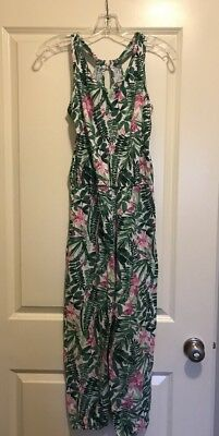 Old Navy Girls Sleeveless Jumpsuit, Floral Print, Multi Color, XL(14)
