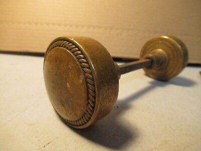 Vintage Brass Door Knob Set Russell & Erwin Conn USA Old House Handle Hardware