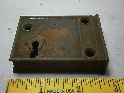 Vintage Lock Mortise Latch Bolt Assembly Skeleton Key Type Steel Old Hardware