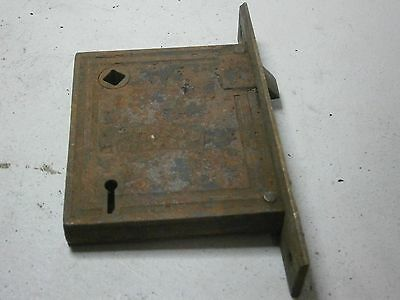 Penn Vintage Lock Mortise Latch Bolt Assembly Skeleton Key Type Old Steel Brass