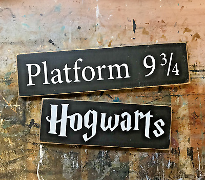 Handmade Harry Potter Themed Wall Hung Wooden Sign