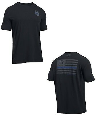 Under Armour Men's UA Freedom Thin Blue Line Loose Fit T Shirt - NWT