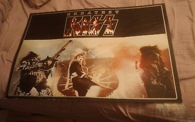 Greatest KISS 1997 Promo Poster 2-sided w/ 1976 Concert Photo Gene Ace Frehley
