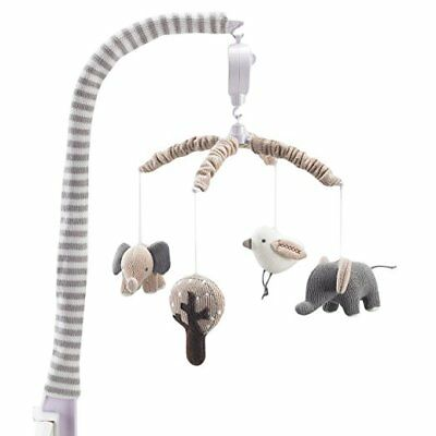 Lolli Living Naturi Elephants Musical Mobile Knitted Characters