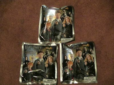 Lot Of 3 Pks Harry Potter Collector Keychain SERIES 1 BLIND BAGS Key Ring New