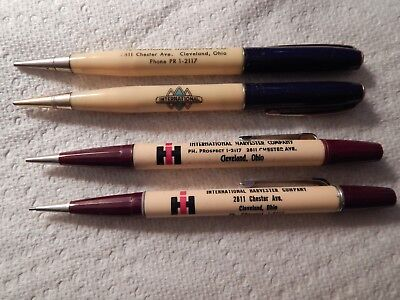 Lot of 4 Vintage International Harvester Company Pencils Cleveland Ohio