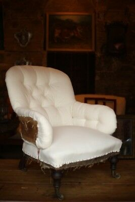 19th Century Country house buttoned back armchair