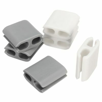 6PCS RUBBER CABLE Clip Holder Organizer Scattered Wire Cord Tie ...