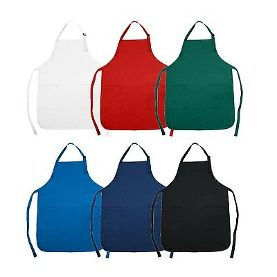 NuFazes Adjustable Bib Apron Spun Poly-Commercial (Multiple Colors)