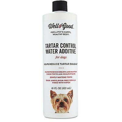 Well & Good Tartar Control Water Additive for Dogs, 16 fl. oz.
