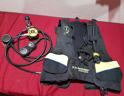 U.S. Divers  Aqua-Lung X-LARGE CALYPSO Diving Vest & Sea2 Regulator