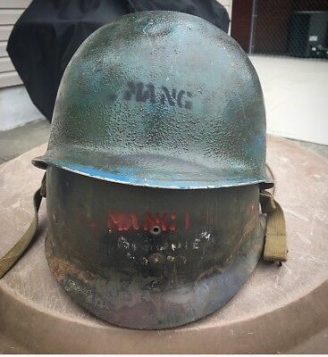 WW2 Helmet USN NAMED