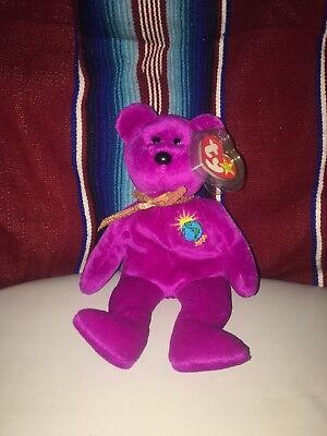 TY Beanie Baby Milennium Bear (With two errors)