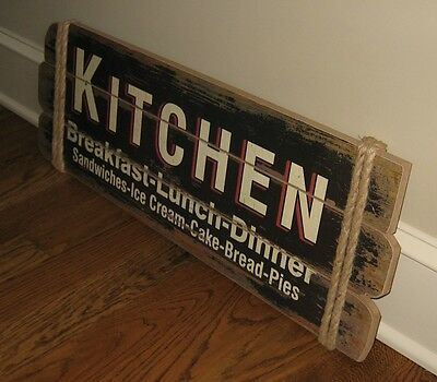 Large KITCHEN Wood Wall SIGN*Primitive/French Country Farmhouse Kitchen Decor