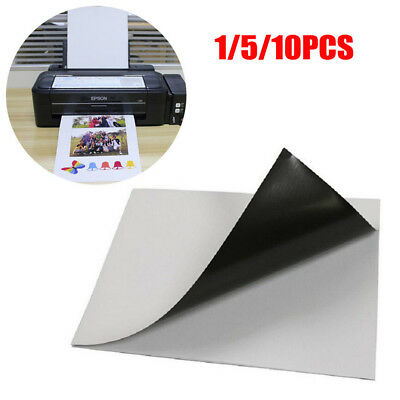 1-10 A4 1.0mm Magnetic Magnet Sheets Self Adhesive Thickness Crafts Material SS