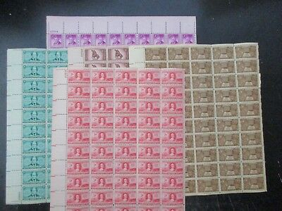US Stamp Sheets Set of 5, S# 971 - 975, Lot of 5,  MNH OG *