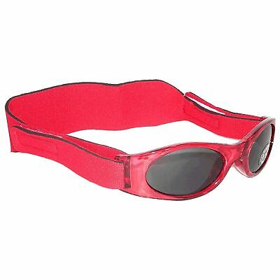 EDZ Kidz Sunnyz Baby 100% UV Protection Sunglasses - Red - 0-2 Years
