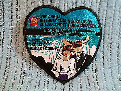 Vintage Moose Legion Patch-Niagara Falls Ny 2000-34Th Annual Conference