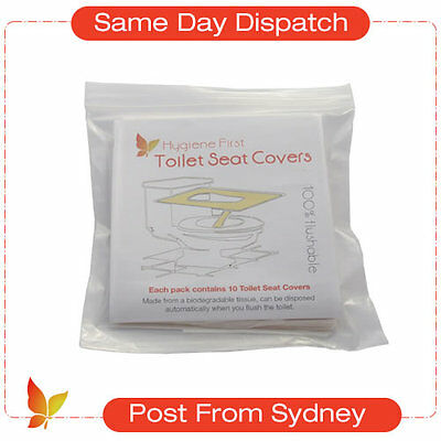 Pack of 10pcs, Disposable Paper Toilet Seat Covers, FAST Delivery from Sydney