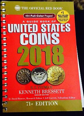 2018 Guide Book of United States Coins U.S- LARGE PRINT - 71st Edition, RED BOOK