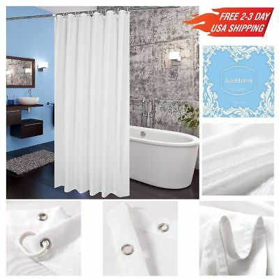 Fabric Shower Curtain Extra Long 72x78 Inch Waterproof Liner NEW