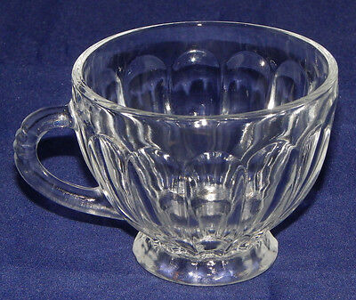 Clear Tea Cup Fluted Beveled Cut Glass Tea Cup Clear Glass Footed Tea Cup