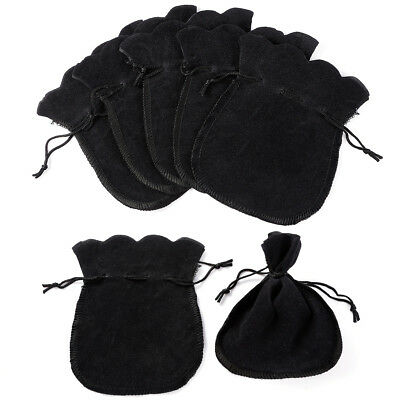 50x Black Oval Velvet Gift Wrap Wedding Favour Bag Jewellery Drawstring Pouches