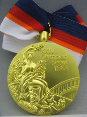 1988 Seoul South Korea Olympic Gold Medal & Ribbons 1:1