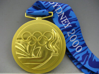 Sydney 2000 Olympic Gold Medal & Ribbons