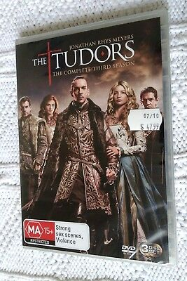 The Tudors – Season 3 –Dvd, 3-Disc Set, R-4, New, Free Post Within Australia