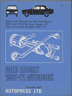 Ford Escort 1100 & 1300 Car Van Estate Used Autobook Manual 1967 – 1972