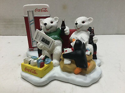 """1998 Coca Cola """"Passing The Day In A Special Way"""" Figurine"""