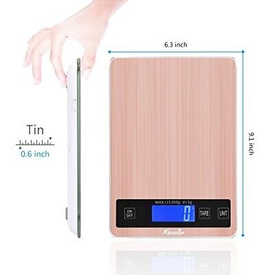 Digital Food Scale Multifunction Kitchen Weight Stainless Steel 33lb Balance NEW