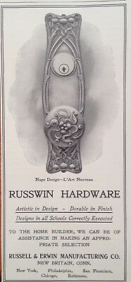 1905 Ad(G8)~Russell & Erwin Mfg. Co. New Britain, Conn. Russwin Hardware