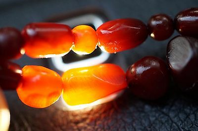 ANTIKE Bakelit Bakelite Halskette Verlauf Art Deco ANTIQUE Cherry NECKLACE