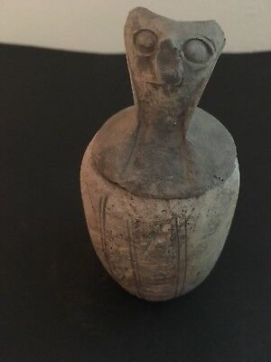 Rare Ancient Egyptian Horus Canopic Jar (c.2400-2300)