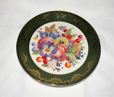 Vintage Weatherby Porcelain Fruit Plate Made in England (Royal Falcon Gift Ware)
