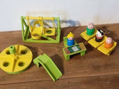 Vintage 1971 Fisher Price Little People School  Accessories